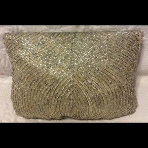 DeLiLL Bags - DeLiLL Silver Beaded Clutch